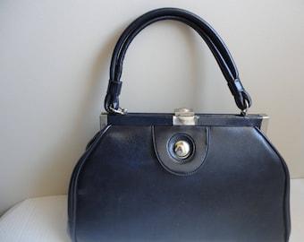 Classic Navy Blue Handbag
