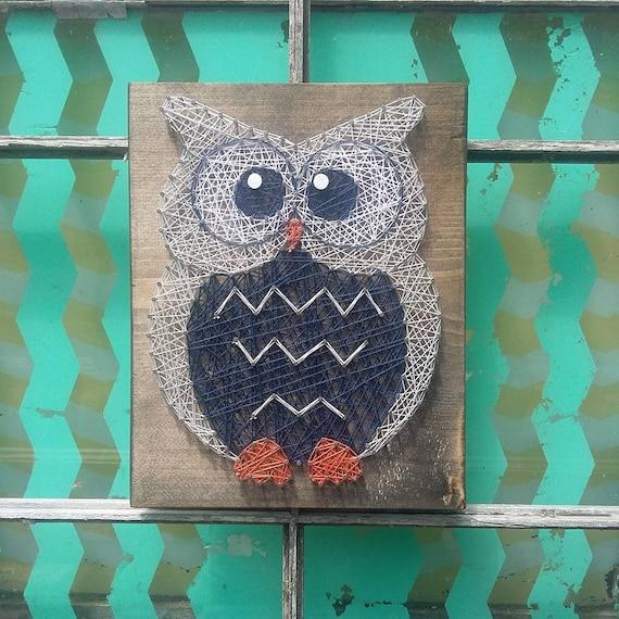 String Art Owl Nail Art Owl Woodland Nursery Decor Owl Baby
