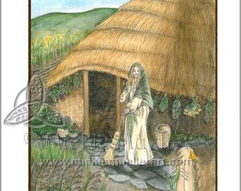 Broom/Reed Card Giclee Print