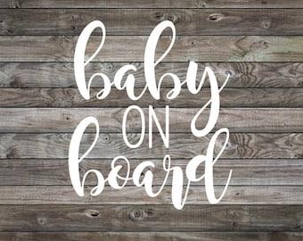 Baby on Board Sticker | Baby on Board Car Decal | Baby on Board | Baby Shower Gift | Car Decal | Vinyl Decal | Window Decal | Mom Car Decal