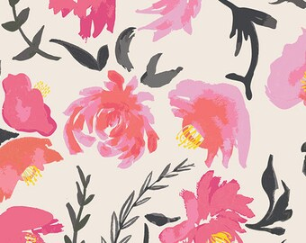 Fitted Crib Sheet Black Watercolor - Floral Crib Sheet - Floral Crib Bedding - Coral Crib Sheet - Girl Baby Bedding - Floral Fitted Sheet