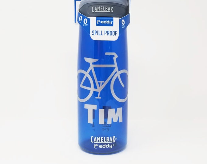 Personalized CamelBak ® Water Bottle-Bicycle, Bottle, Hydrate, Custom, Bite Valve, Sports, Cycling, Bike, Cycle, Tandem, Wheels .75L Eddy