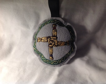 Embroidered  Brigid's Cross Stuffie/Ornament