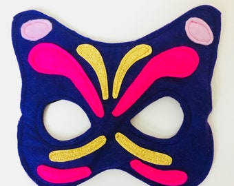Kids Butterfly Mask, Adult Butterfly Mask, Carnival Mask, Felt Butterfly Mask, Mardis Gras Butterfly, Butterfly Costume. ANY SIZE/COLOURS.