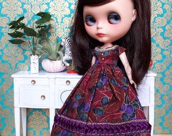 Purple and Gold Blythe Dress and Crinoline Set | Pullip Dress