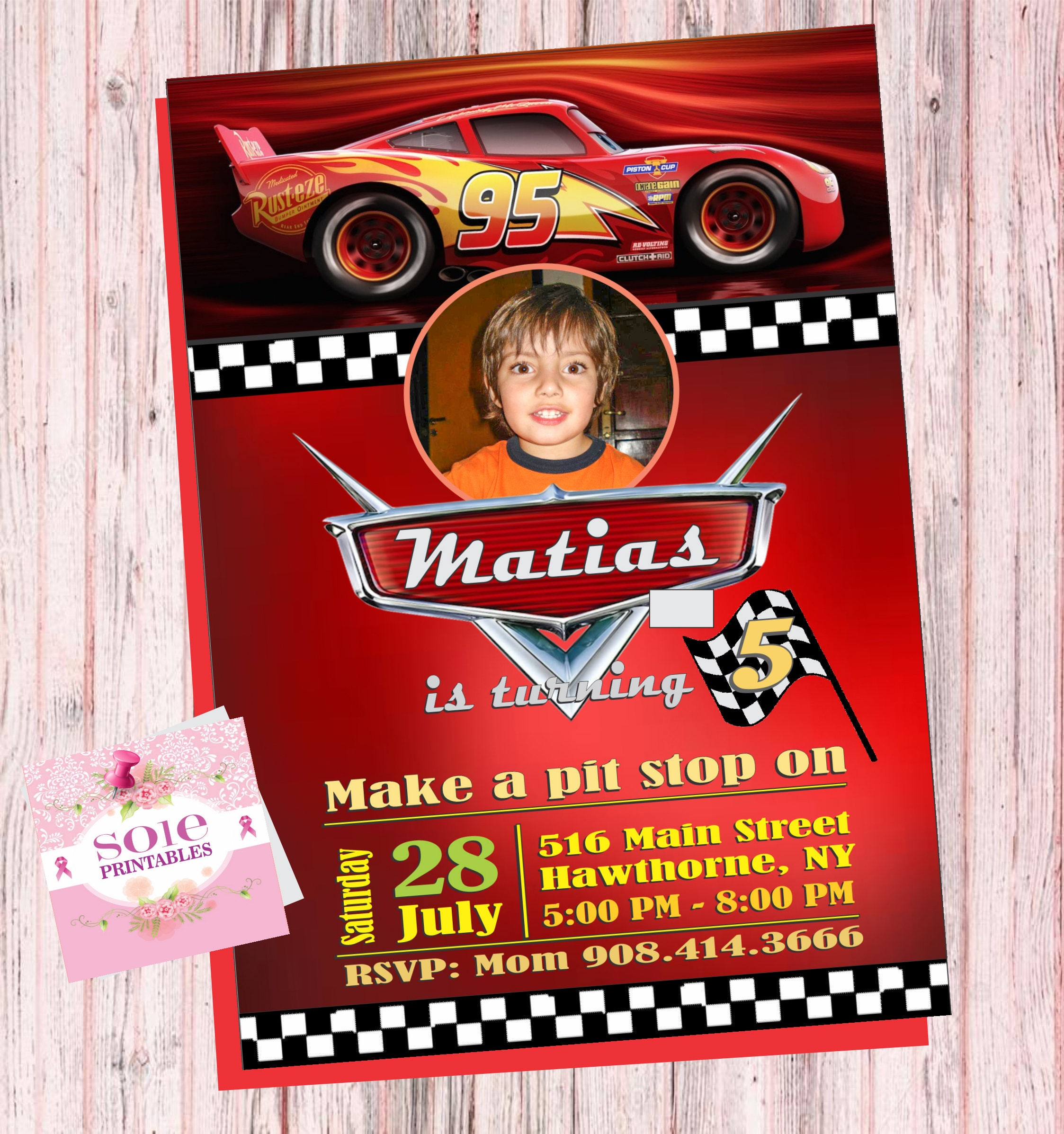 CARS 3 CUSTOMIZE INVITATION Customize your Invitation with