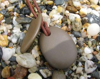 Cabo de gata beach stone pendant
