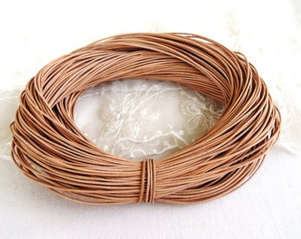 1mm Natural Leather Cord, Genuine Leather Round Cord, Greek High Quality Leather Cord, Sold in 2 Yards /1,85 m approx.