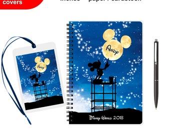 Disney Autograph book Personalized Scrapbook Spiral Notebook Writing journal books girl travelers traveler's Kids Girls Diary for boys girls