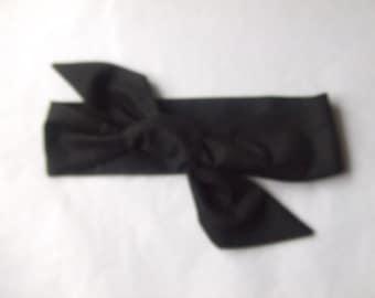 Plain Black Head Wrap