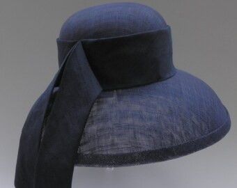 Classic Vintage Breakfast at Tiffanys Audrey Hepburn style wedding, races hat.  Made to order in colours of your choice