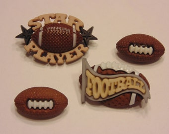 4 piece football button set , 18-32 mm (14)