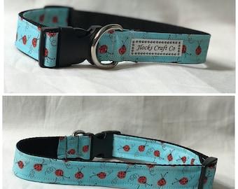 Blue Ladybug Collar