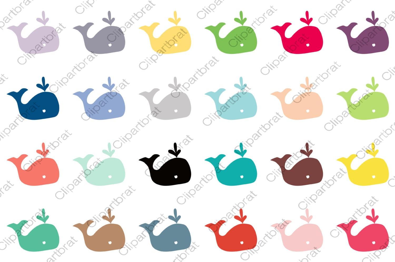 cute whale clipart for commercial use kids clip art nautical ocean rh etsystudio com