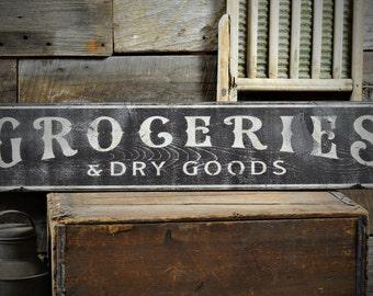 Groceries U Dry Good Distressed Sign Kitchen Sign Kitchen Plaque Kitchen  Wall Decor With Kitchen Wall Decor.