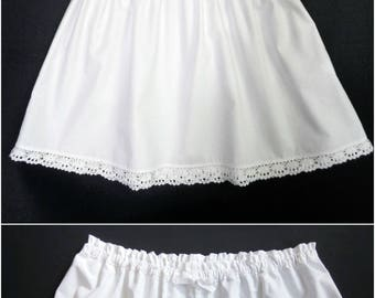 Women's Pajama Set - Camisole and Bloomers / Pajama Top and Pajama Shorts