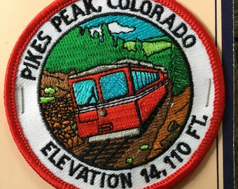 Pikes Peak Colorado Vintage Souvenir Travel Patch from Monterey Patch- LAST ONE!