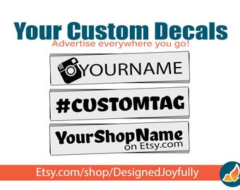 Custom Decal For Car Truck Business Social Media Marketing - Vinyl Car Decal - Custom Car Decal - Business Name Vinyl Decal - Window Decal