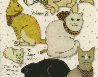 Quilt Book -- Claires Cats Volume 2 -- 35 Unique Cat Patterns for Appliqué Quilts -- Pattern Book for Hand or Fusible Applique Quilts