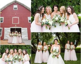 Full Length Tulle Skirt Bridesmaid Flower Girl Skirt Wedding Dress Tutu Ballet