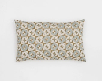 Tara Handscreen Printed Cushion Cover - Sea Grey / Fawn 30x50cm