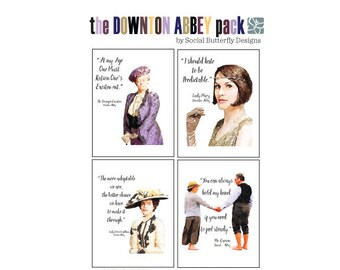 Downton Abbey Quotes Greeting Cards