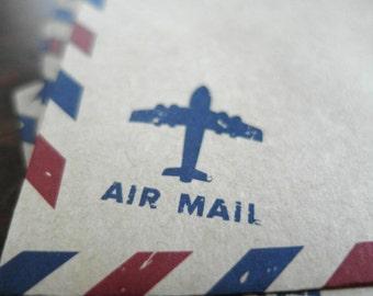 Airmail Envelopes - Vintage Style Envelopes - Kraft Envelopes - Air Mail Envelopes - Invitation Envelopes Set of 20