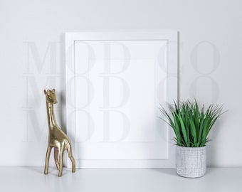 mock up // giraffe + potted plant