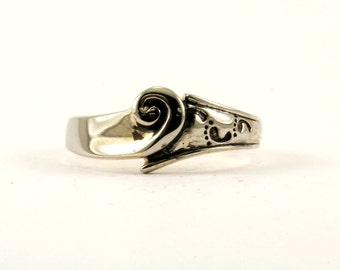Vintage It Was Then That I Carried You Design  Ring 925 Sterling Silver RG 1141