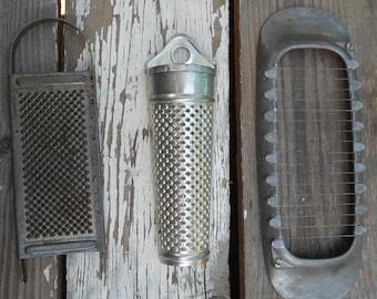 primitive kitchen gadget 1940s food grater West Germany grater tube