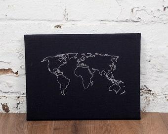 Noticed etsy world map notice board cork world map world map pin board world map gumiabroncs Gallery