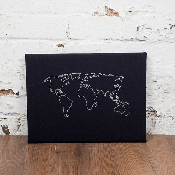 World map notice board cork world map world map pin board like this item gumiabroncs Gallery