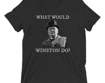 What Would Winston Do? Tri-Blend Vintage Tee