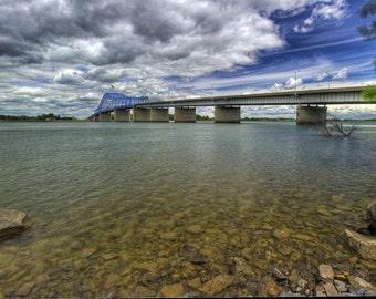 Bridge Photography - Bridges - Landscapes - Columbia River, Bridge - 16 X 24 - Prints