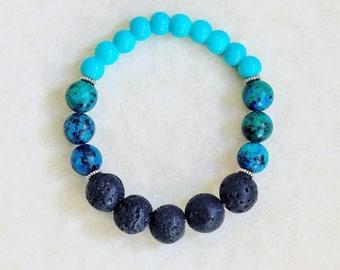 Aromatherapy, Essential Oil Bracelet, Boho bracelet, Essential Oils Jewelry, Natural Jewelry, Fall bracelet, Essential Oil, Stretch Bracelet