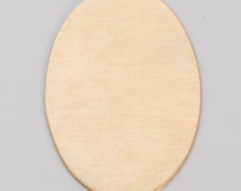 Brass Blanks Oval 25mm x 18mm 24ga Pkg Of 6