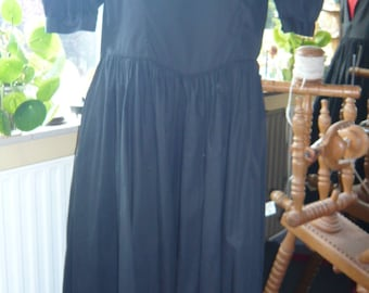 Vintage black 100% cotton dress made by Laura Ashley