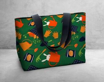 Butterfly Bag -  Carry Bag / Tote Bag / Market Bag / Book Bag / Carry All -