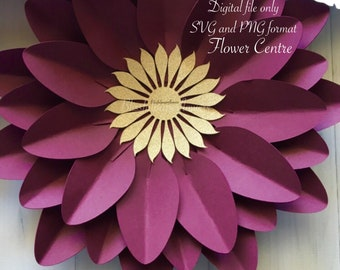 Paper Flower centre Svg/Png - Flower Centre - Center - Digital File - Flowers - Instant Download - SVG - PNG - Cricut - Silhouette