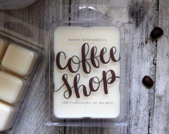 COFFEE SHOP Soy Wax Melts | Wax Tarts | Coffee Scented | Wedding Gift | Wedding Favor | Stocking Stuffer
