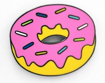Donut Enamel Pin – Pink Donut Pin - Delicious Enamel Pin