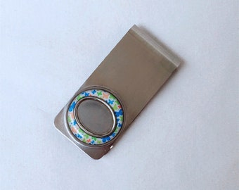 Lot 10 pcs blank custom money clip for personalized making BC31