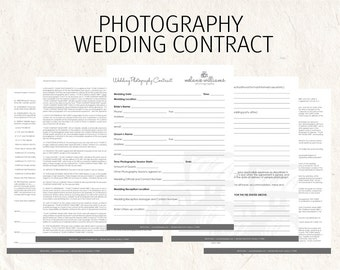 Wedding Photography Contract Business Forms Sketched Camera Editable  Templates   5 Psd Files Supplied