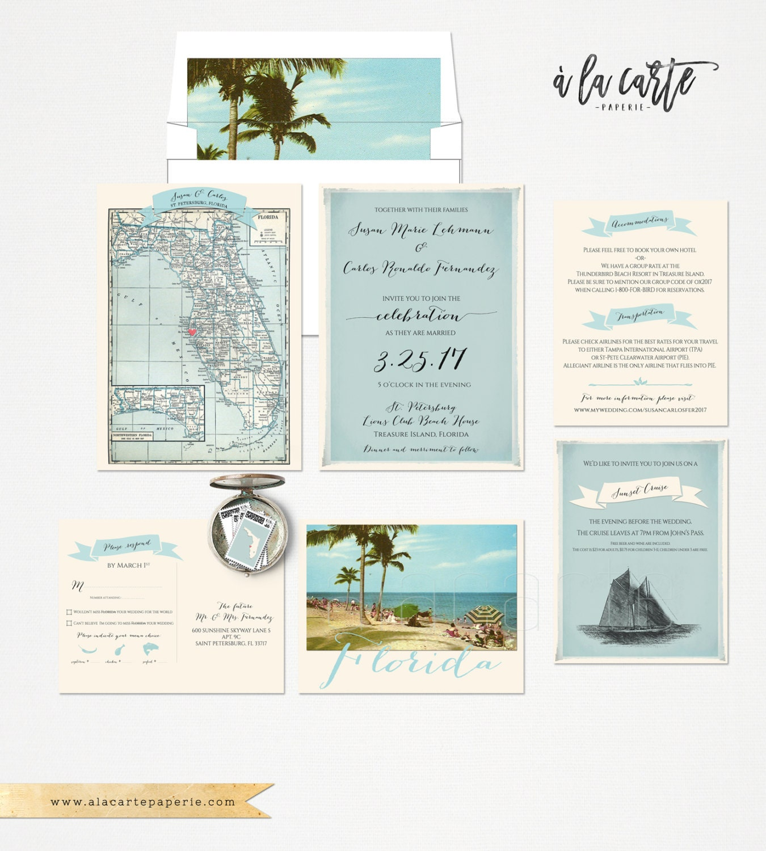 Florida wedding invitation and rsvp card design fee zoom stopboris Choice Image