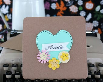 Auntie Greeting Card Heart