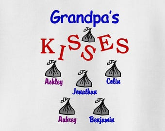 Grandfather Valentine Gift, Grandpa's Kisses Grandpa Sweatshirt - Grandparent Shirt - Fathers Day Gift - Grandpa Gift - Papa Shirt