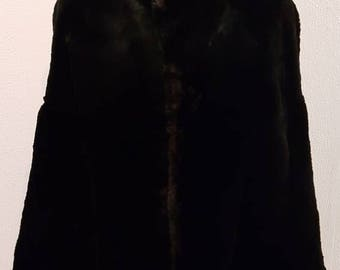 Reserved - Please don't purchase - 1930s Fur Cape - Elegant Vintage 1930s Fur Cape - Real Fur Cape - Black Fur Cape - Metz en Cos Amsterdam