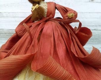 Vintage Nan's Corn Husk Dolls/ Original Tag 1992/ Night Visitor/ Primitives/ Collectibles