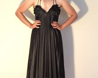 80's dramatic Black Dress