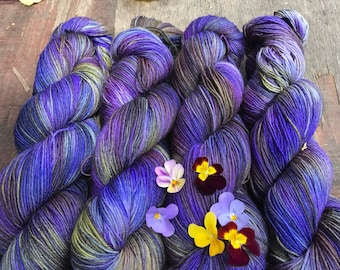 So What If I'm A Pansy - Superwash Blue Faced Leicester 4 Ply 100g